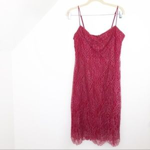 Vintage Betsey Johnson Red Lace Dress